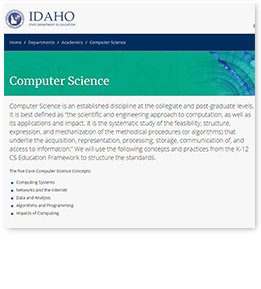 Computer Science Standards PDF Document