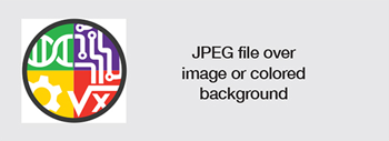 JPEG file over image or colored background