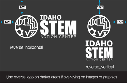 STEM AC reversed logo standards