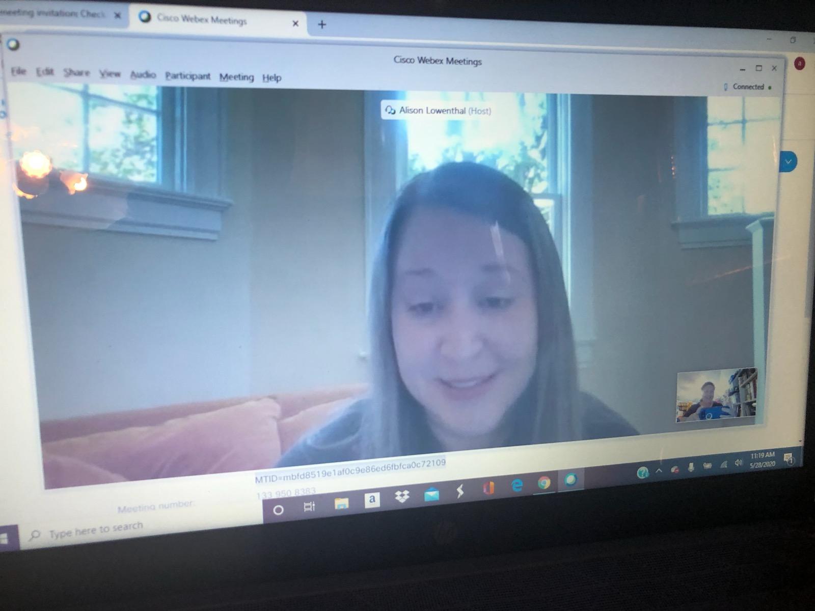 Amber in Virtual Meeting