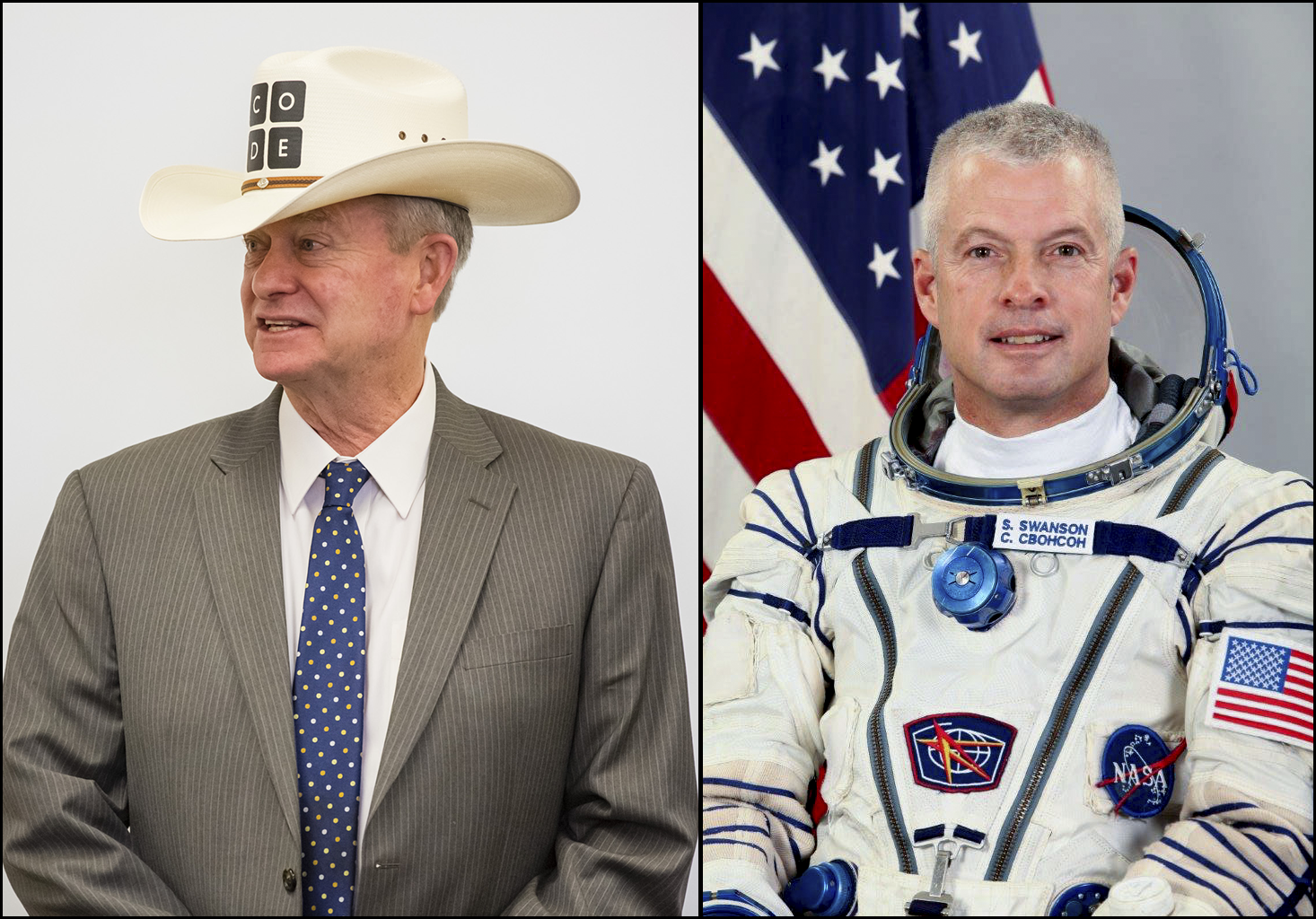 Governor Little and Astronaut Steve Swanson