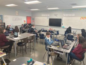 Day 4 of Hour of Code with Blocksmith VR game creators