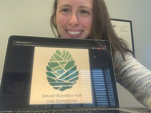 Elizabeth Keith at Idaho Business for the Outdoors